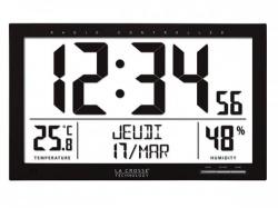 la crosse - dcf-klok met kalender, temperatuur, vochtigheid en alarm - ws8013