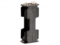 batterijhouder voor 2 x aa-cel (voor batterijclips) - BH322B