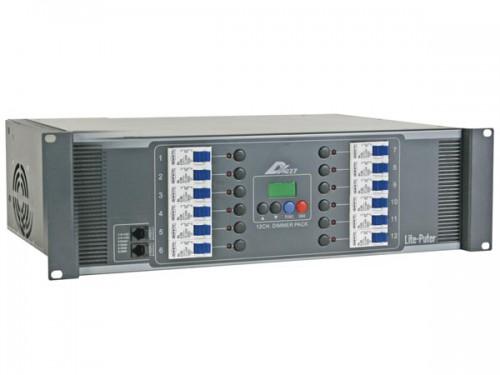 12-kanaals modulair dmx dimmer pack, 20a/kanaal, schroefconnectoren, uitgang - lptdx1227