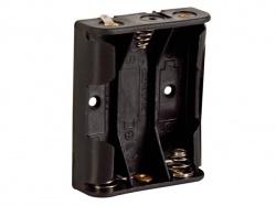 batterijhouder voor 3 x aa-cel (voor soldeerlippen) - BH331D