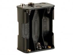 batterijhouder voor 6 x aa-cel (voor batterijclips) - BH363B
