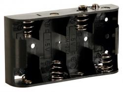 batterijhouder voor 4 x c-cel (voor batterijclips) - BH243B