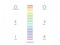 multi-zone systeem - touchpanel led-dimmer voor rgb-led - dmx / rf - chlsc32tx