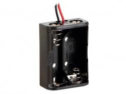 batterijhouder voor 2 x n-cel (met draden) - BH521A