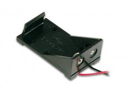 batterijhouder voor 1 x 9v-cel (met draden) - BH9V