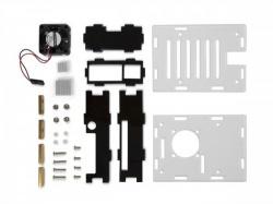 transparante behuizing met koelelementen en ventilator voor raspberry pi 4® - wpa507