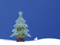 kerstboom - blauwe leds - aan/uit-schakelaar - wssa100b
