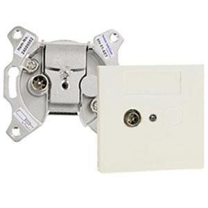 Coax stopcontact BTV01-UPC enkel einddoos + afdekplaat - btv01