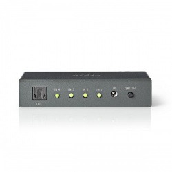 Optische audioswitch | 4-poorts - 4x Toslink-ingang | 1x Toslink-uitgang - aswi2504at