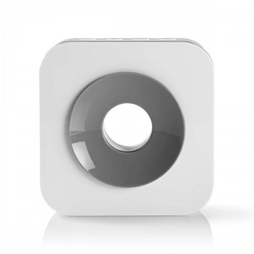 Draadloze Deurbelset | Netvoeding | 90 dB | Signaalbereik: 150 m | IP44 | 36 Melodiën | 2 Ontvangers | Grijs / Wit - doorb121cwt2