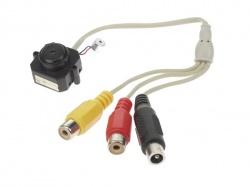 kleuren pinhole camera  met audio + adapter - CAMCOLMHA5