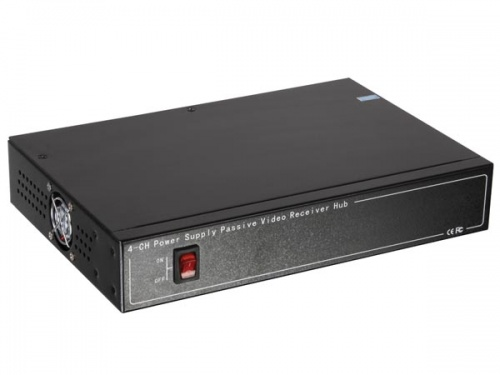 set met 4-kanaals video-/voedingsbalun en ingebouwde 12v-voeding - 8p8c (rj45) connector - CV045