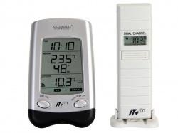 klok met binnen-/buitentemperatuur en extra sonde - it+ technologie - WT9024