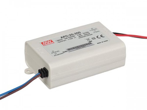 led-driver met constante stroom - 1 uitgang - 350 ma - 25 w - APC-25-350