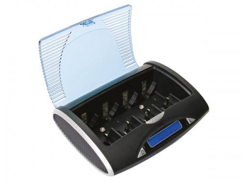 universele snellader/-ontlader voor nimh-batterijen met lcd-scherm en usb-uitgang - VLE4