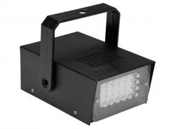 mini stroboscoop met witte leds - 24 leds - op batterijen - hqpl10001