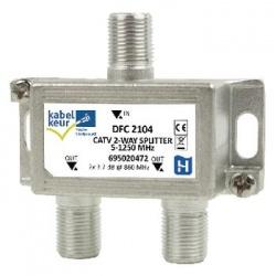 2 Weg antenne splitter, F connector - dfc 2104