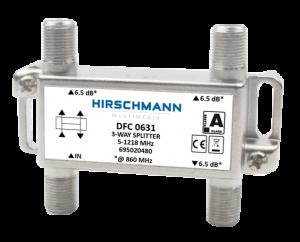 3 Weg antenne splitter F connector, 4G proof - dfc 0631