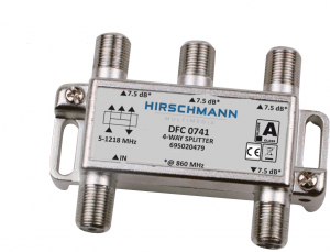 4 Weg antenne splitter F connector, 4G proof - dfc 0741