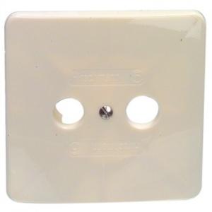 Afdekplaat voor TV/FM antenne wandcontactdoos - ad 350