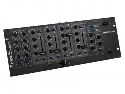 5-Kanaals DJ mengpaneel met USB, 19 Inch - mix6usb