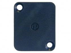 neutrik - blank plaatje voor d-connector - zwart - DBA-BL