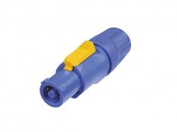 neutrik - powercon, 3-polig kabeldeel, blauw, bekrachtigd / voor voedingsingang - NAC3FCA