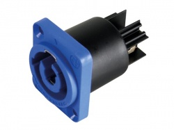 neutrik - powercon, 3-polig chassisdeel, blauw, bekrachtigd / voedingsingang - NAC3MPA