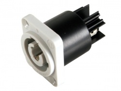 neutrik - powercon, 3-polig chassisdeel, grijs, bekrachtigd / voedingsuitgang - NAC3MPB