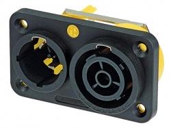 powercon® true1 16a, dubbel chassisdeel - NAC3PX