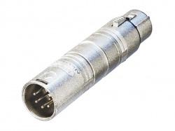 3-pin xlr vrouwelijk naar 5-pin xlr mannelijk - NA3F5M