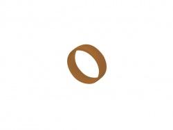 bruine codeerring voor mannelijke-vrouwelijke xlr - XXR-1