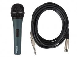 zwarte professionele dynamische microfoon met draagkoffer - MICPRO9