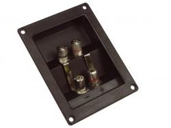 dubbele luidsprekeraansluiting - rechthoekig - vernikkeld - LSC5
