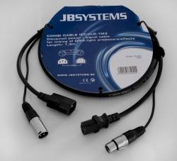 Stroom/Signaalkabel IEC/XLR - 1.30 meter - combi cable iec/xlr-(1m3)