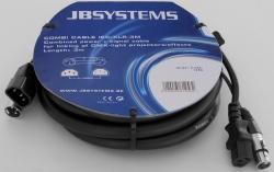 Stroom/Signaalkabel IEC/XLR - 3 meter - combi cable iec/xlr-(3m)