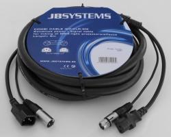 Stroom/Signaalkabel IEC/XLR - 5 meter - combi cable iec/xlr-(5m)