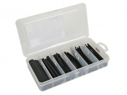 set thermische krimpkousen - zwart 10cm - 170 st. - in opbergdoos - K/STMC2B
