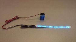 Flexibele LEDSTRIP op batterij - RGB 50 cm. met 9 Volt aansluiting - LEDSTRIP op batterijvoeding - ledstr50rgb
