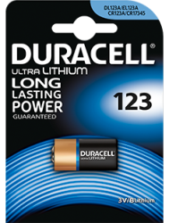 CR123A duracell foto batterij 3V Lithium - CR123