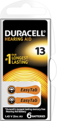 DA13 duracell zinc-air batterij 1.45V - DA13