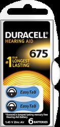 DA675 duracell zinc-air batterij 1.45V - DA675