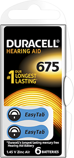 Hoorapparaat batterijen