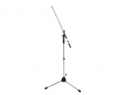 telescopisch microfoonstatief - chrome - hqms10001