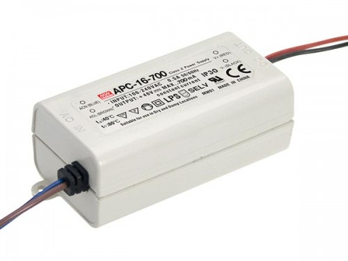 led-driver met constante stroom - 1 uitgang - 700 ma - 16 w - apc-16-700